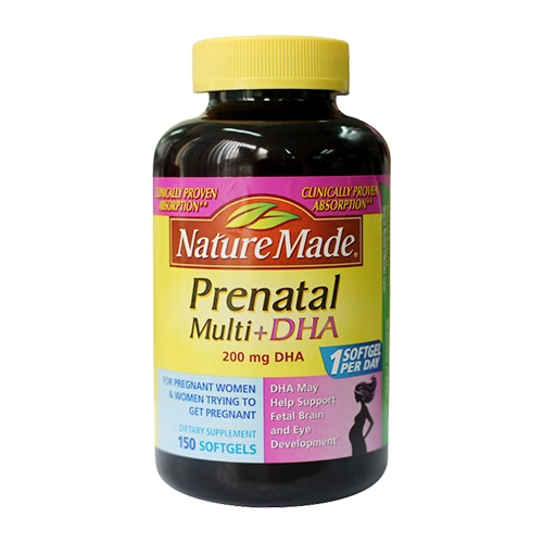 Nature Made Prenatal Multi DHA 200mg DHA | Chai 150 viên