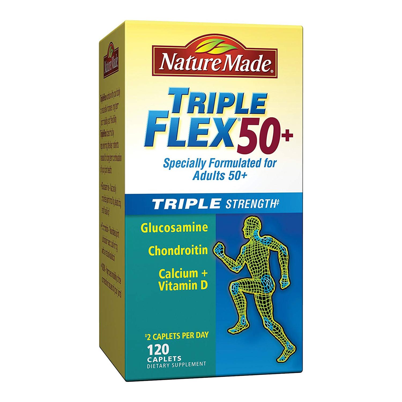 Xương khớp Nature Made Triple Flex Triple Strength 50+ | Chai 120 viên