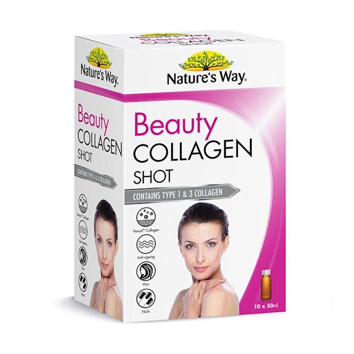 Nature's Way Beauty Collagen Shot , Giữ gìn nét đẹp tuổi thanh xuân, Hộp 10 chai x 50ml