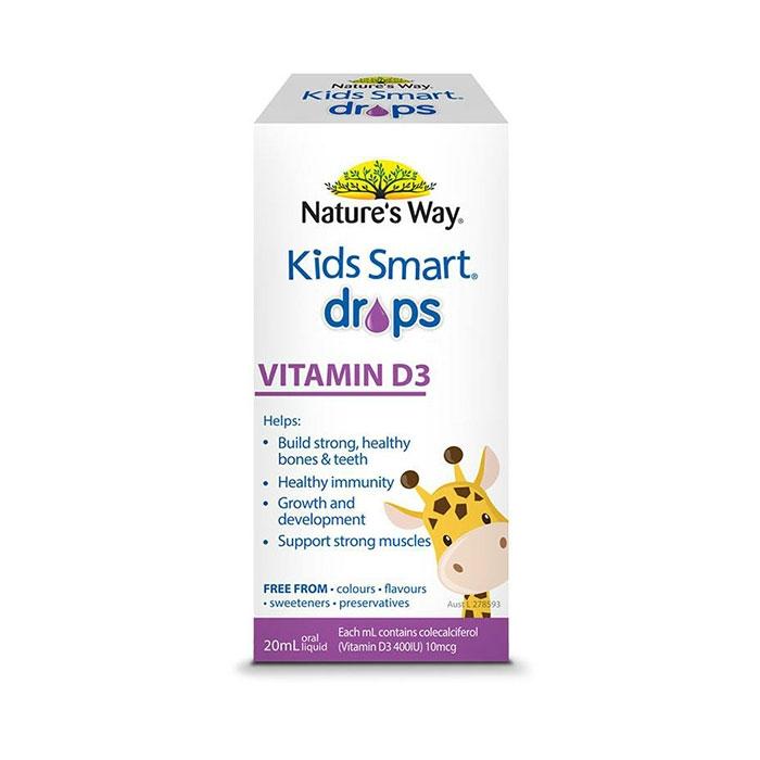 Nature's Way Kids Smart Drops Vitamin D3, bổ sung D3 tinh khiết cho trẻ, Hộp 20ml