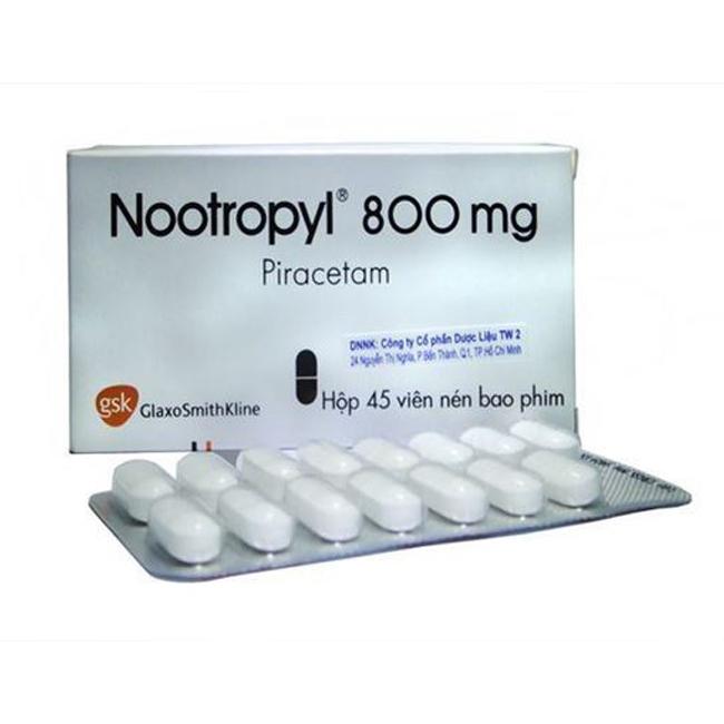 Thuốc Nootropil 800mg, Hộp 45 viên
