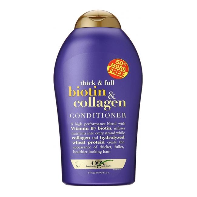Bộ dầu gội và xả chống rụng, kích thích mọc tóc Ogx Biotin & Collagen 577ml