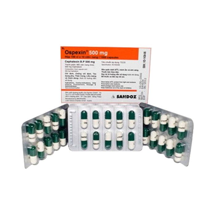 Thuốc kháng sinh Ospexin 250mg Sandoz, Hộp 100 viên