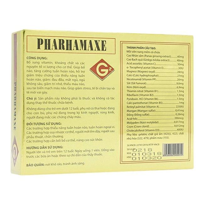 Pharhamaxe G2 Tuệ Linh, Hộp 30 viên
