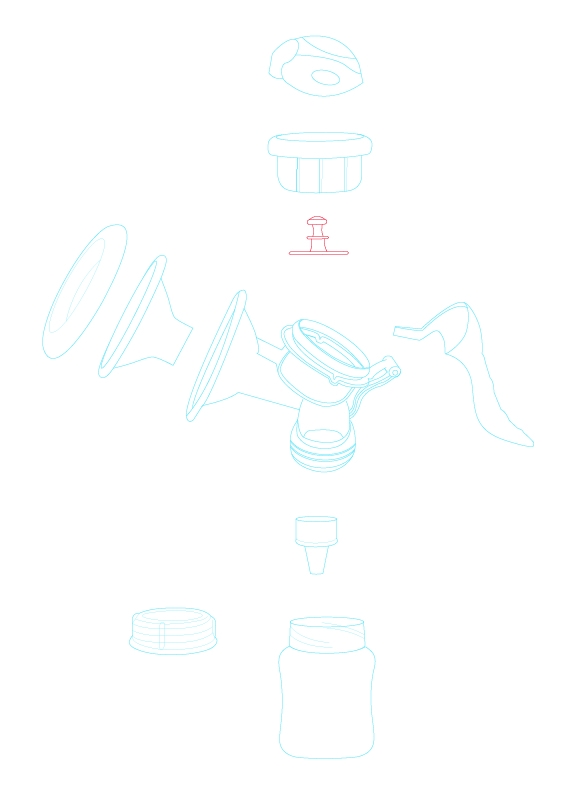 Pit-tông hút sữa cơ Sanity AP-154AM