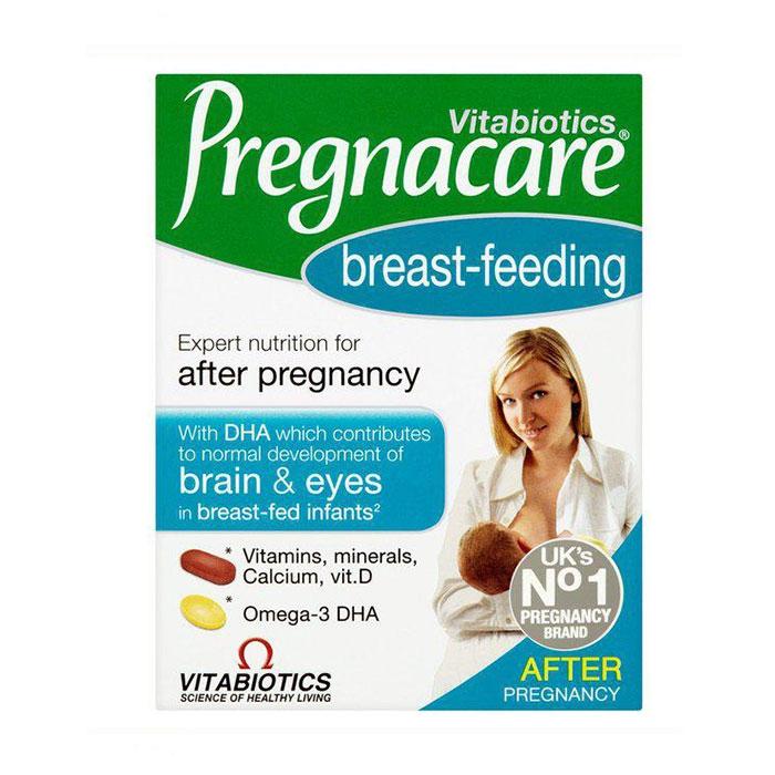 Tpbvsk sau sinh Vitabiotics Pregnacare Breast Feeding, Hộp 84 viên