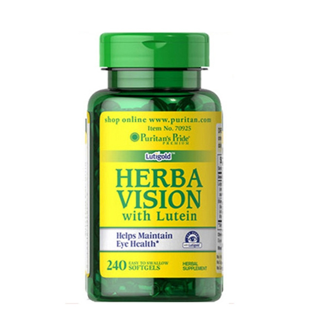 Viên uống bổ mắt Puritans Pride Herba Vision With Lutein