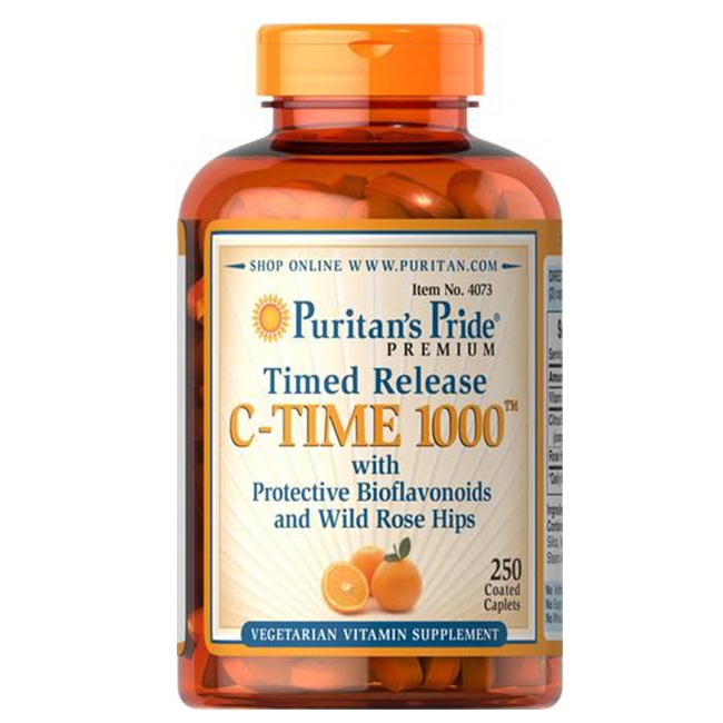 Puritan's Pride Vitamin C-1000 mg with Rose Hips Timed Release 1000 mg / 250 Caplets