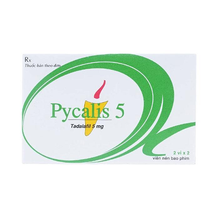 Thuốc cường dương Pycalis 5mg, Hộp 2 viên