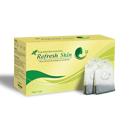 Refresh Skin giúp giảm mụn, Hộp 15 gói x 2,4g