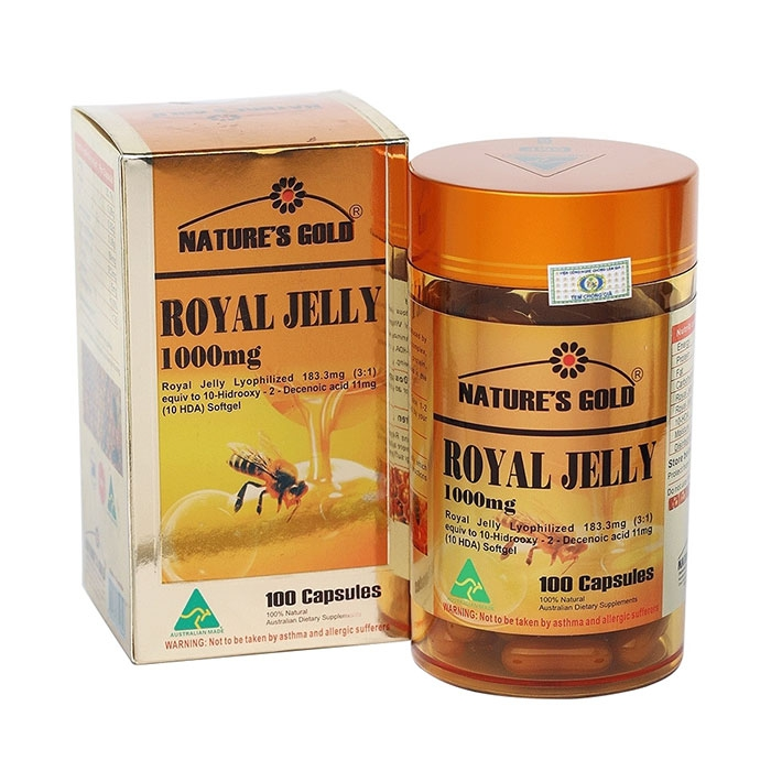 Sữa ong chúa Natures Gold Royal Jelly 1000mg, Hộp 100 viên