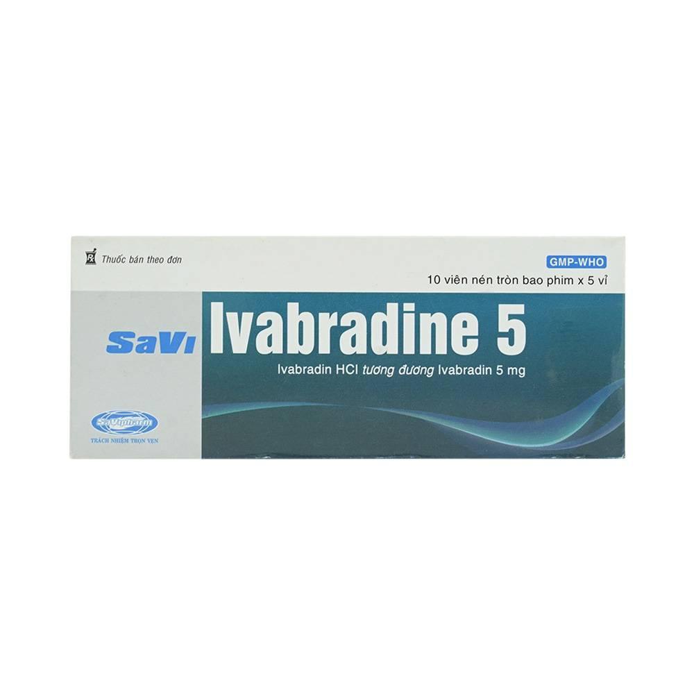 SaviPharma Savi Ivabradine 5, Hộp 50 viên