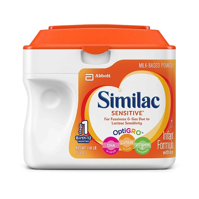 Sữa Similac Sensitive dành cho bé từ 0-12 tháng 638gr