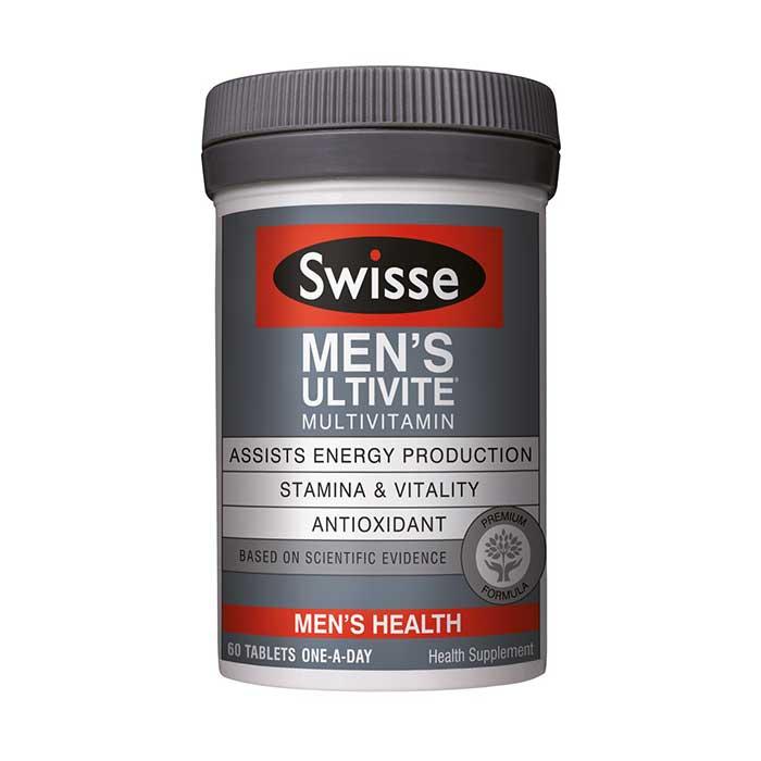 Swisse Men's Ultivite Multivitamin, Chai 60 viên