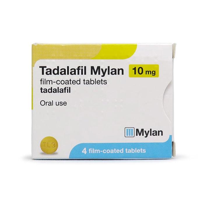 Thuốc Tadalafil Mylan 10mg, Hộp 4 viên
