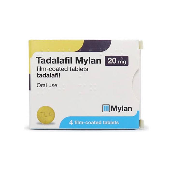 Thuốc Tadalafil Mylan 20mg, Hộp 4 viên