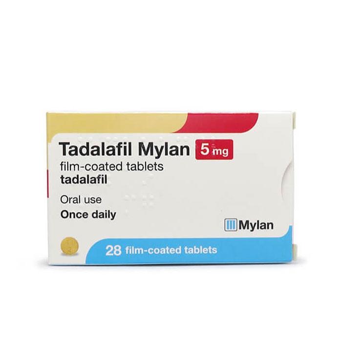 Thuốc Tadalafil Mylan 5mg, Hộp 28 viên