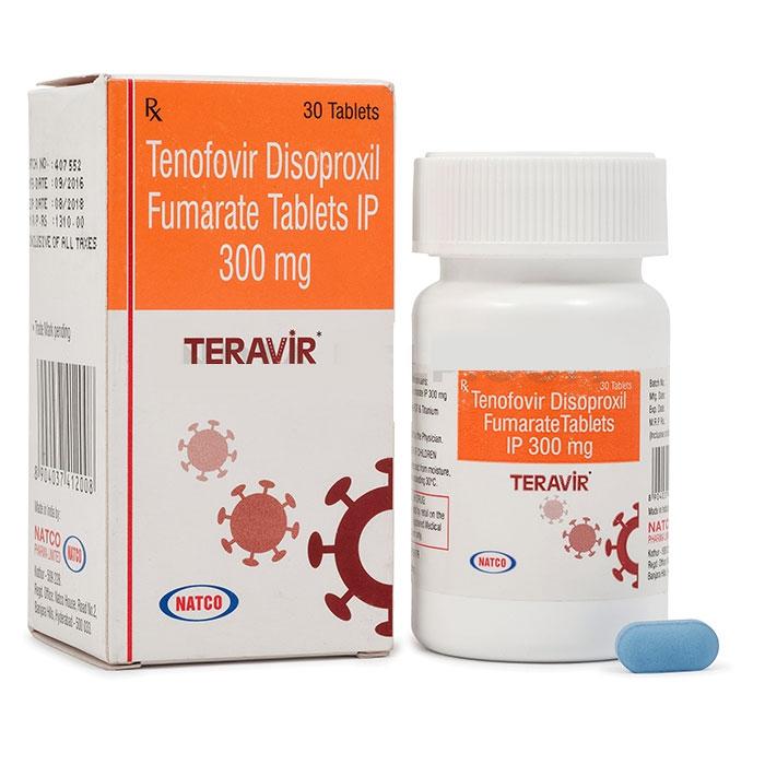 Thuốc điều trị viêm gan B Teravir 300mg, Hộp 30 viên