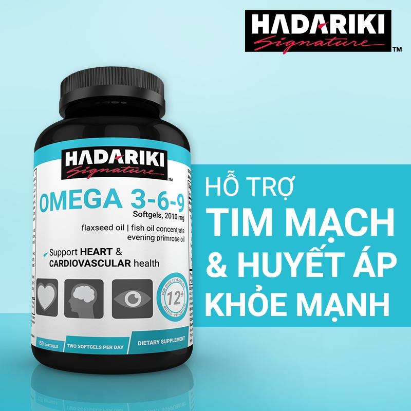 Thực phẩm bảo vệ sức khỏe cao cấp Hadariki Omega 369 New