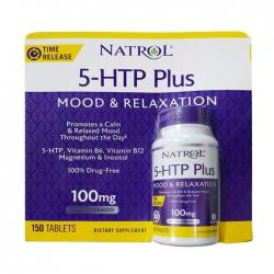 Tpbvsk giảm căng thẳng và tăng hưng phấn Natrol 5-HTP Plus 100mg, Hộp 150 viên