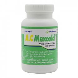 Thuốc giảm đau Imexpharm AC Mexcold, Hộp 200 viên