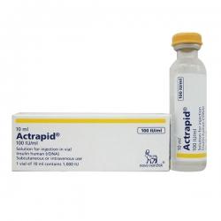 Thuốc tiểu đường Actrapid 1000IU/10ml