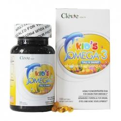 Kid's Omega 3 Tall & Smart Clevie Health 100 viên - Viên uống bổ sung DHA cho bé