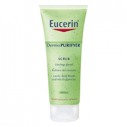 Tẩy tế bào chết cho da nhờn mụn Eucerin Dermo Purifyer Scrub 100ml