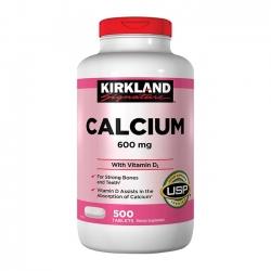 Tpbvsk xương khớp Kirkland Calcium 600 Vitamine D3 | Chai 500 viên