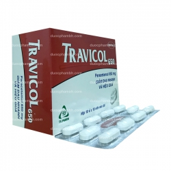 Thuốc giảm đau hạ sốt TRAVICOL 650 - Paracetamol 650mg