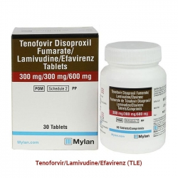 Thuốc Mylan Tenofovir Disopxil Fumarate 300mg, Lamivudine 300mg And Efavirenz 600mg, Hộp 30 viên