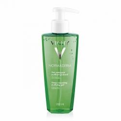 Gel rửa mặt ngăn ngừa mụn Vichy Normaderm Nettoyant Deep Cleansing Purifying Gel 200ml