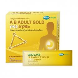 A.B Adult Gold Pre & Pro Mega 30 gói x 2.5g