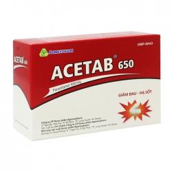 Acetab 650 Agimexpharm 10 vỉ x 10 viên