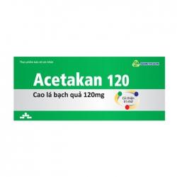 Acetakan 120 Agimexpharm 3 vỉ x 10 viên – Viên uống bổ não