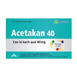 Acetakan 40 Agimexpharm 10 vỉ x 10 viên – Viên uống bổ não
