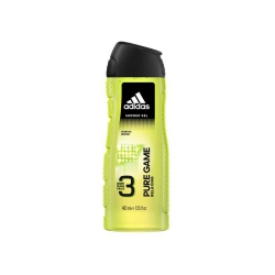 Sữa tắm, gội, rửa mặt Adidas Pure Game Relaxing (Body, Hair, Face) Shower Gel, Chai 400ml