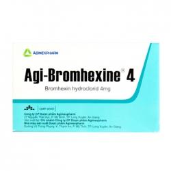 Agi-bromhexine 4 Agimexpharm 10 vỉ x 10 viên