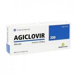 Agiclovir 200 Agimexpharm 2 vỉ x 10 viên