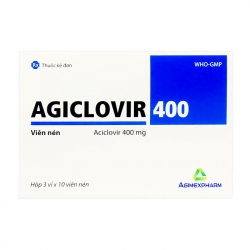Agiclovir 400 Agimexpharm 3 vỉ x 10 viên