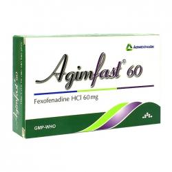 Agimfast 60 Agimexpharm 1 vỉ x 10 viên