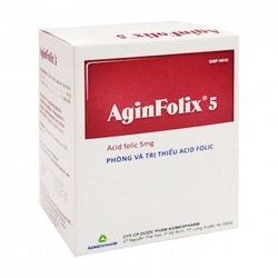 Aginfolix 5 Agimexpharm 10 vỉ x 10 viên