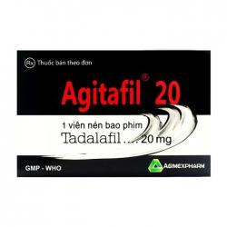 Agitafil 20 Agimexpharm, Hộp 1 vỉ x 1 viên