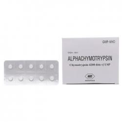Thuốc Alphachymotrypsin Mebiphar, Hộp 200 viên