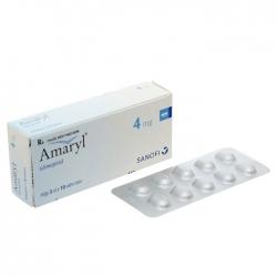 Thuốc tiểu đường Amaryl 4mg, 30 viên