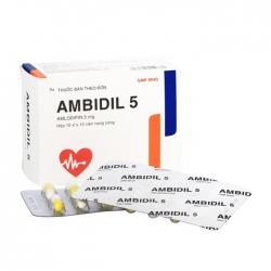 Ambidil 5mg Bidiphar 10 vỉ x 10 viên