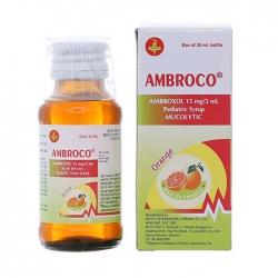 Thuốc ho Ambroco Syrup 15mg/5ml, Hộp 30ml