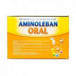 Dinh dưỡng cho bênhk nhân xơ gan Aminoleban Oral, Hộp 21gói