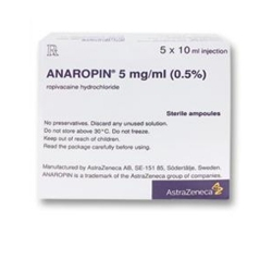 Anaropin 5mg/ml 10ml, Hộp 5 lọ