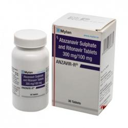 Thuốc Mylan Anzavir R 300mg/100mg, Hộp 30 viên